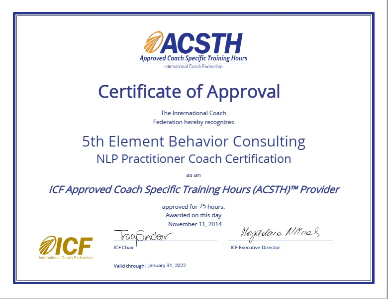 ICF Approved NLP Coach Certification - Practitioner